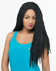 Carefree Lace Front Wig Senegalese Twist Braid Style YarraLF