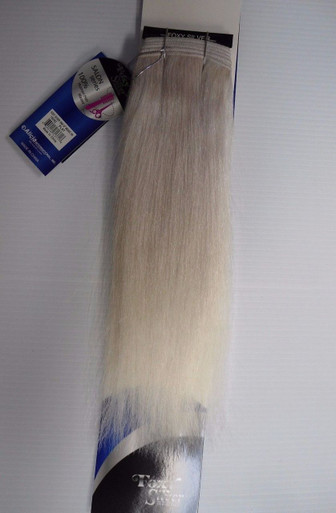 "Foxy Silver 10"" Salt n' Pepper Human Hair Straight Weave Track Platinum Grey [White Grey]"