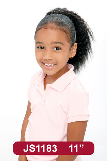 "11"" Synthetic Hair Drawstring Ponytail Kids Clip on Hairpiece #183"