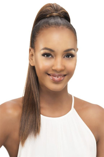 "Long Straight Yaki 18"" Synthetic Clip & Drawstring Ponytail Hairpiece PB183"
