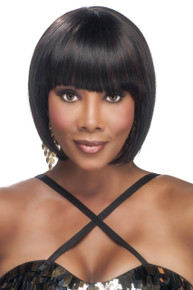 "Vivica A Fox 10"" Human Hair Pure Stretch Cap Full Wig H291-V"