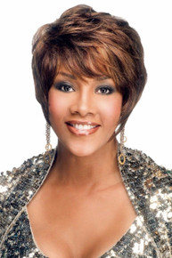 Vivica A Fox Premium Human Hair H311-V Pure Stretch Cap Layered Spiral Full Wig