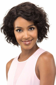 "Vivica A Fox 11"" Remi Human Hair Pure Stretch Cap Full Wig Sorbet - Wavy"