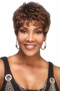 Vivica A Fox Short Premium Human Hair Pure Stretch Cap Full Wig H222-V