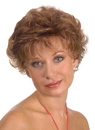 Short Layered Cut Hair Full Wig Blonde Colors - Mason color #27H613