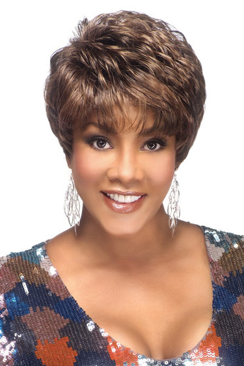 """Vivica A Fox 8"""" Short Synthetic Hair Pure Stretch Cap Full Wig Amy-V"""