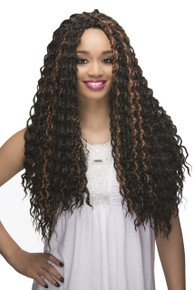 "Loose Deep Wave 22"" Crochet Braiding Hair Extensions (2- pack)"