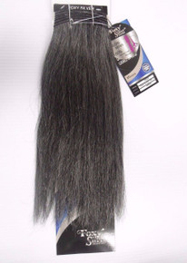 "Foxy Silver 12"" Salt n' Pepper Human Hair Straight Weave Track Grey Color 44"