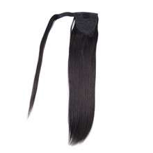 "Clip in 18"" Wrap Around Ponytail Human Hair Extensions 100g Straight"