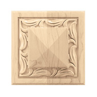 "CRV7076RO_6"" Sq Large Nouveau Rosette Red Oak"