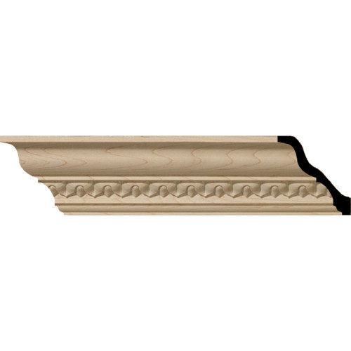 MLD02X02X03LAAL - Wood Crown Molding, Alder