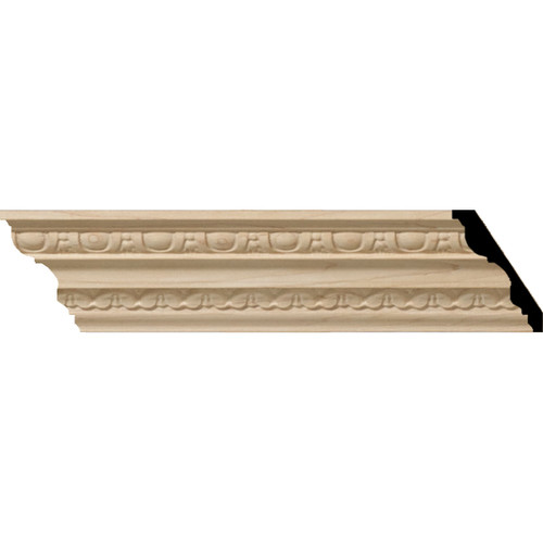MLD03X02X03BEAL - Wood Crown Molding, Alder