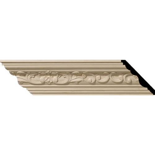 MLD03X03X05MECH - Wood Crown Molding, Cherry