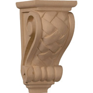CORW03X04X07BWRO - Small Basket Weave Corbel, Red Oak