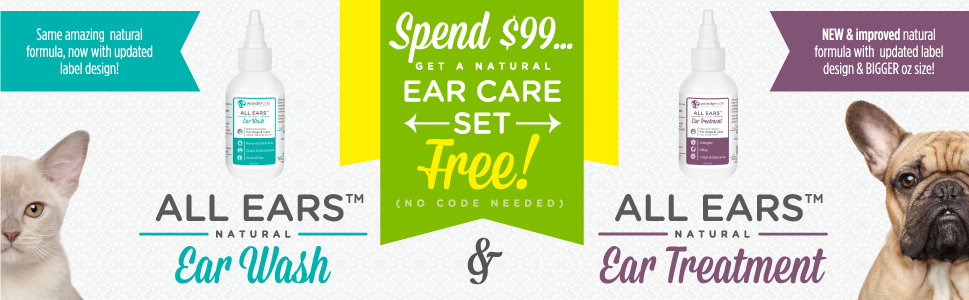 Get our ear care set FREE! Spend $99 or more.