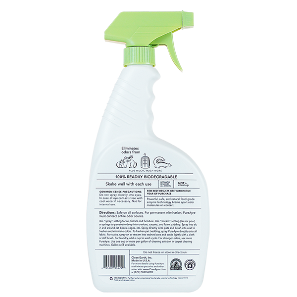 Pure Ayre Odor & Stain Remover - Back