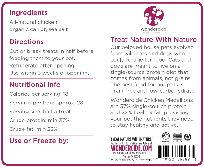 Chicken, Carrot & Sea Salt - Back Label