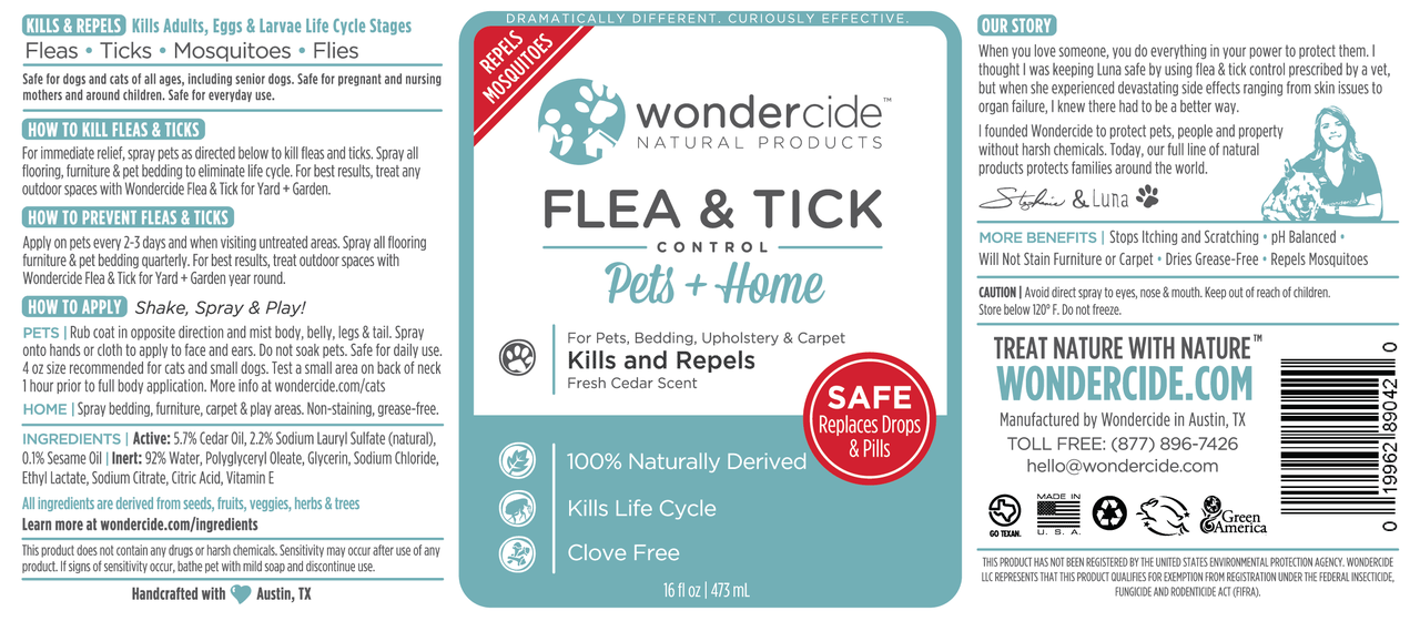 FLEA & TICK | Natural Flea, Tick & Mosquito Control | Cedar Label