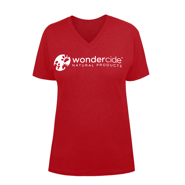 Wondercide Shirt – V-Neck - Front – Vintage Red