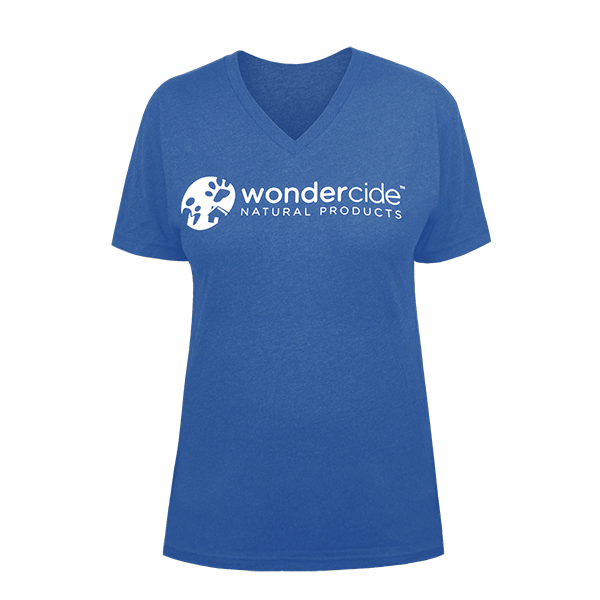Wondercide Shirt – V-Neck - Front – Vintage Royal