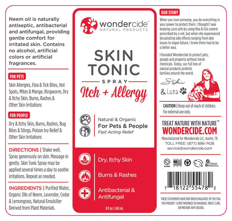 Skin Tonic Itch & Allergy Remedy Label | 8oz