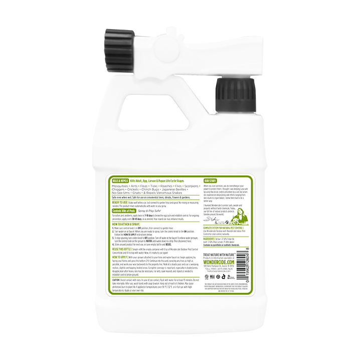 READY TO USE OUTDOOR |  Natural Pest Control | Kills & Repels 100s of Pests | 32 oz Back