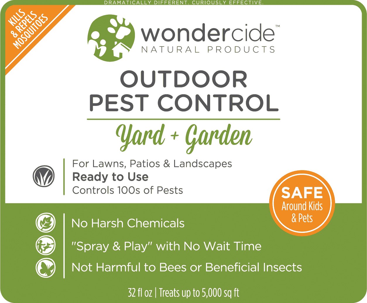 READY TO USE OUTDOOR | Natural Pest Control | Kills & Repels 100s of Pests | 32 oz Label
