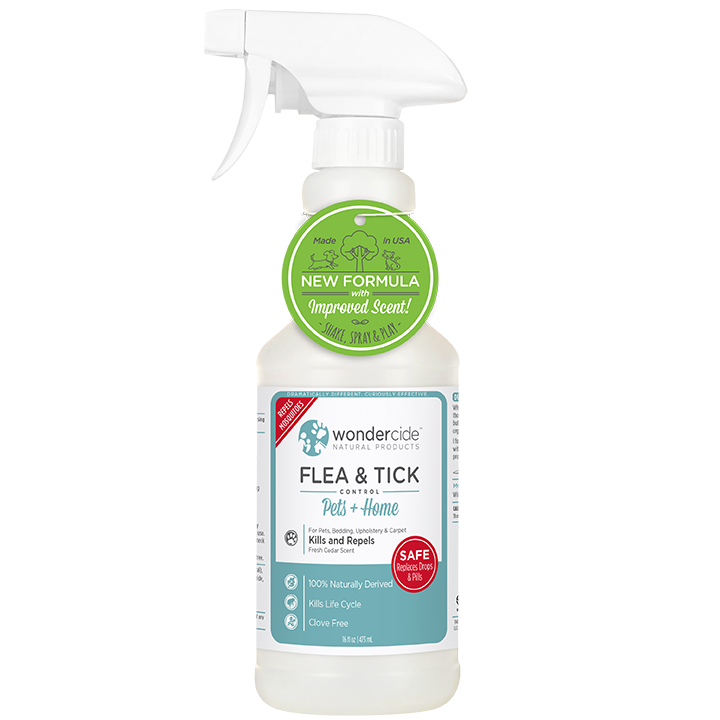 Natural Flea, Tick & Mosquito Control for Pets + Home | 16oz Cedar
