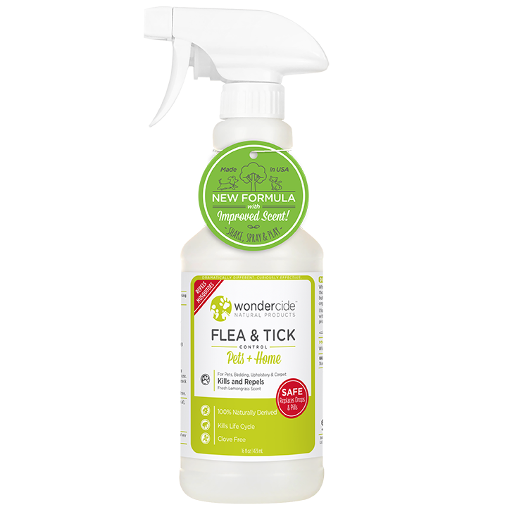 Natural Flea, Tick & Mosquito Control for Pets + Home | 16oz Lemongrass