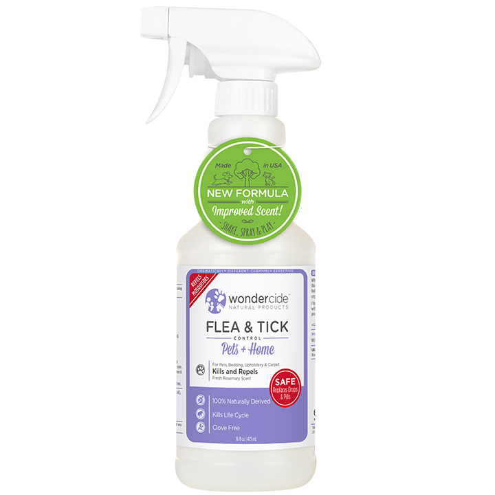 Natural Flea, Tick & Mosquito Control for Pets + Home | 16oz Rosemary