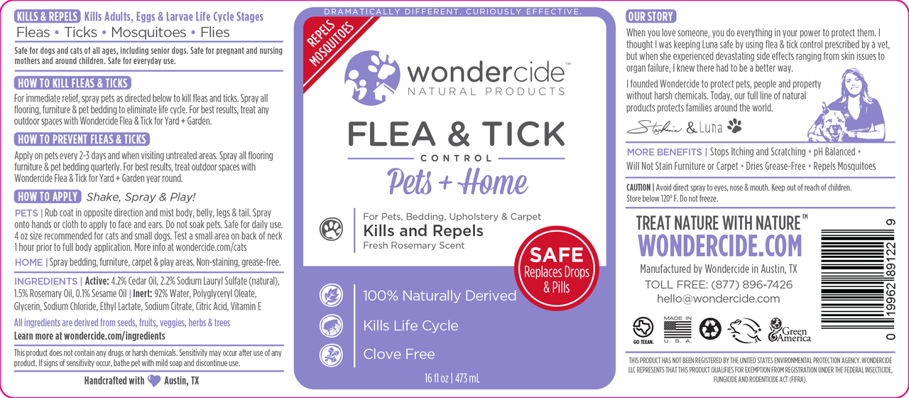 Natural Flea, Tick & Mosquito Control for Pets + Home | Rosemary Label