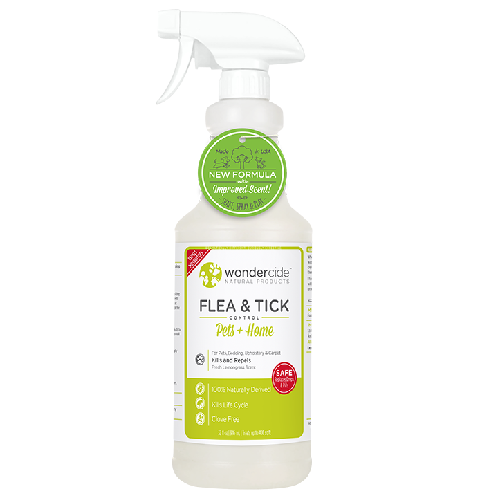 Natural Flea, Tick & Mosquito Control for Pets + Home | 32oz Lemongrass