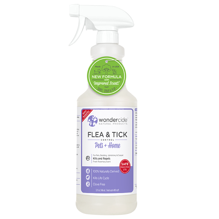 Natural Flea, Tick & Mosquito Control for Pets + Home | 32oz Rosemary
