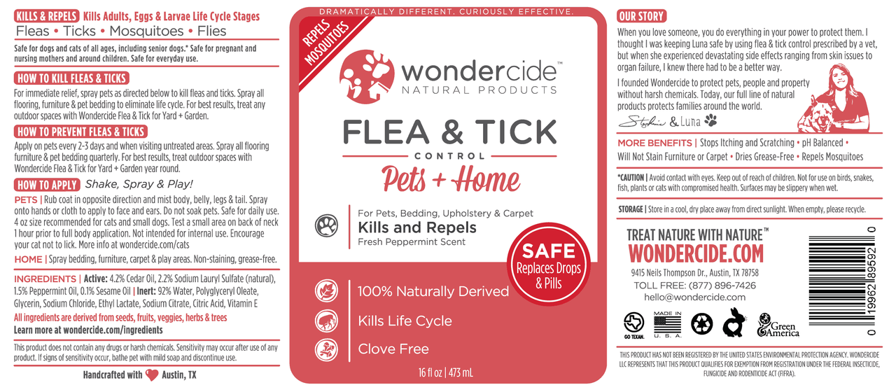 Natural Flea, Tick & Mosquito Control for Pets + Home | Peppermint Label