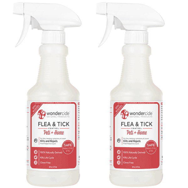 Natural Flea, Tick & Mosquito Control for Pets + Home | 16oz 2-Pack | Peppermint
