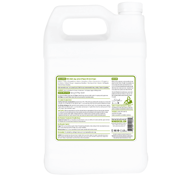 OUTDOOR | Natural Pest Control Concentrate | Kills & Repels 100s of Pests | Label 32 oz | Back