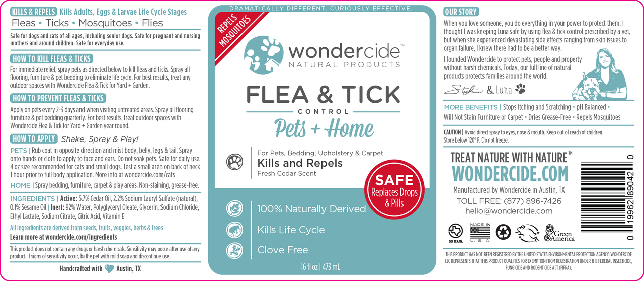 FULL TREATMENT KIT | Natural Flea & Tick Control Cedar Label