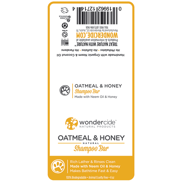 OATMEAL & HONEY | Natural Shampoo Bar for Dogs with Honey – Label
