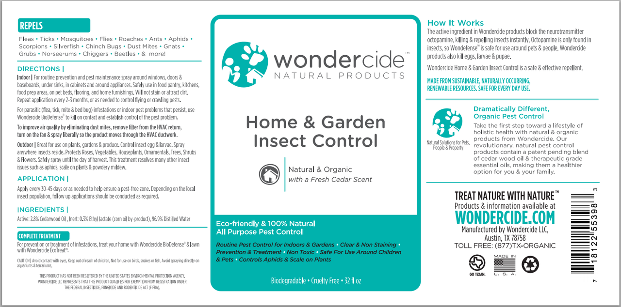 Natural Home & Garden Insect Control Spray | Label