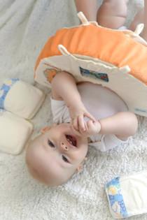 Mango Dino Baby & Toddler Pillow By Snuggwugg