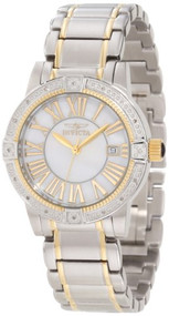 Invicta Women's 13957 Angel Diamond-Accented Two-Tone Stainless Steel Brace...