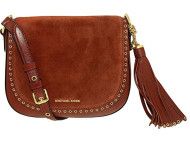 Michael Michael Kors Brooklyn Medium Leather Saddle Bag, Red  30F6ABNM2S-616
