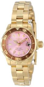 Invicta Women's 12526 Pro-Diver Pink Dial Watch [Watch] Invicta