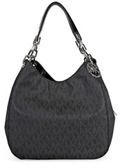 Michael Kors Fulton Large Leather Shoulder Bag Tote ( Black Signature) 30H4SFTL3B-001