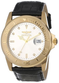 Invicta Men's 10231-003 Pro Diver Silver Dial Black Leather Watch [Watch]