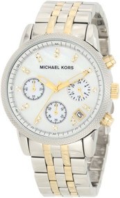 Michael Kors MK5057 Women's Two Tone Chronograph Watch