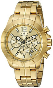 Invicta Men's 21463 Specialty Analog Display Japanese Quartz Gold Watch