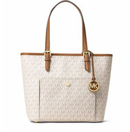 MICHAEL Michael Kors Small Jet Set Item Snap Pocket Tote, Vanilla 30S7GTTT8B-150