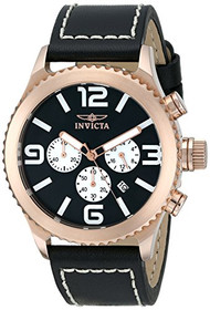 Invicta Men's 1429 II Collection 18k Rose Gold-Plated Stainless Steel and B...