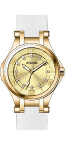 Invicta Women's 'Wildflower' Quartz Stainless Steel Casual Watch, Color:White (Model: 21756)